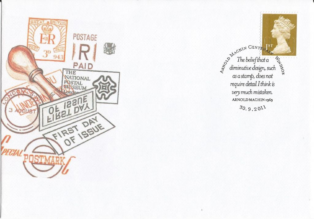 2011_arnold machin centenary the belief that a diminutive design such as a stamp does not require detail i think is  very much mistaken arnold machin 1969 windsor_17977.jpg