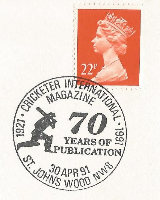 1991_cricketer international magazine 1921 1991 70 years of publication st johns wood nw8_8110.jpg