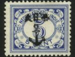 In Borneo and points east, most stamps received an anchor overprint. This is a 1912 series 5c