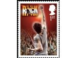 We Will Rock You stamp
